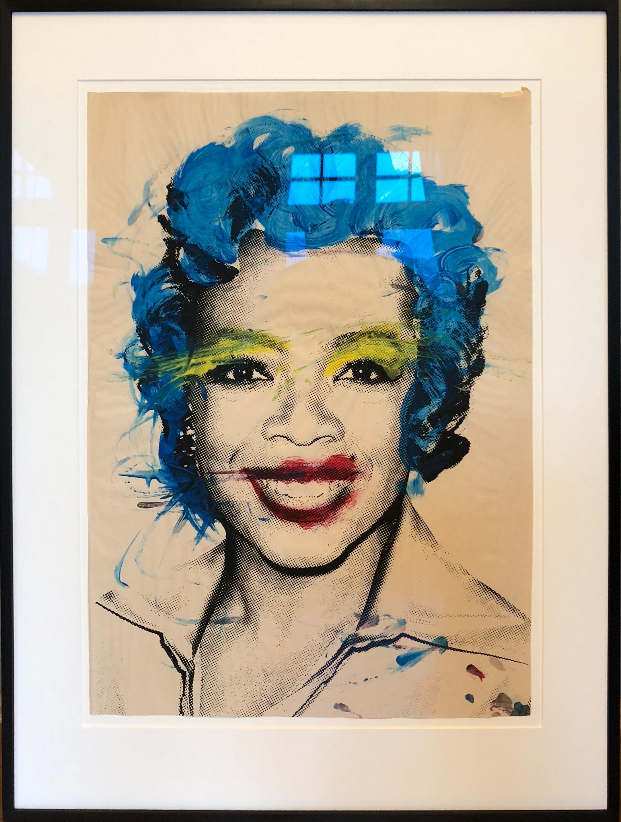 Oprah (Rote Lippen, Blaue Haare)